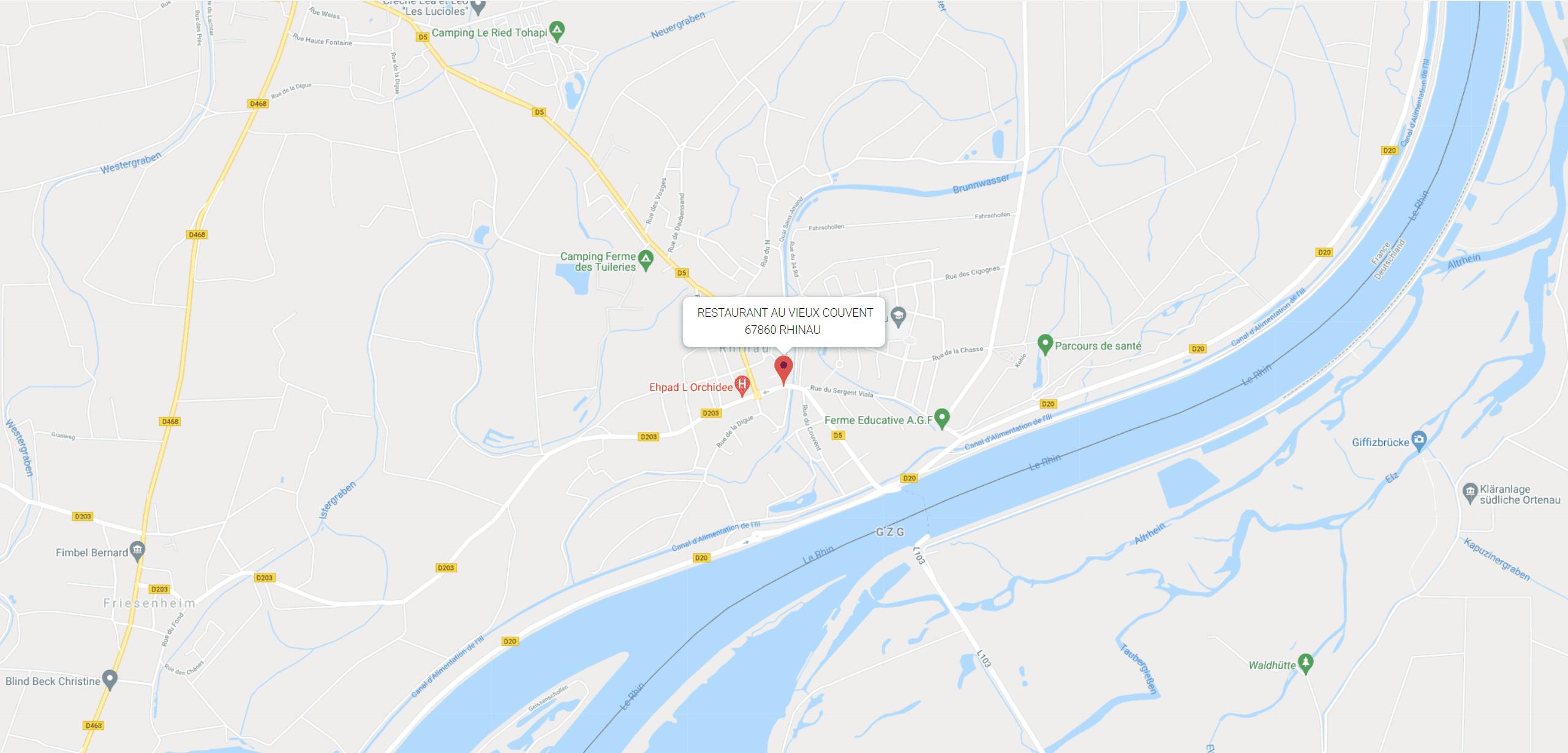 Au vieux couvent Map